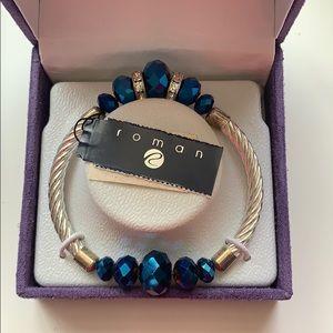 Brand New Blue Sapphire Silver Bracelet!